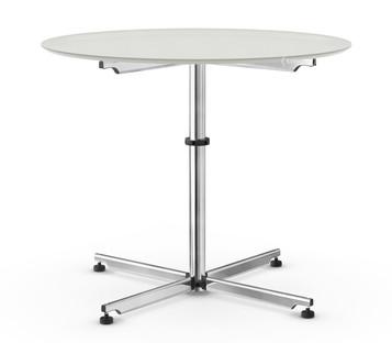 USM Kitos Circular Table Ø 90 cm Glass Light grey RAL 7035