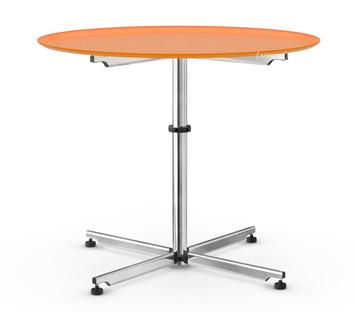 USM Kitos Circular Table Ø 90 cm|Glass|Pure orange RAL 2004