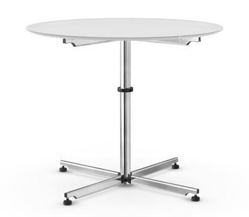 USM Kitos Circular Table Ø 90 cm|Glass|Pure white RAL 9010