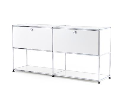USM Haller Sideboard L with 2 Drop-down Doors, Lower Tier Structure