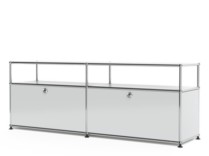 USM Haller Lowboard L with Extension, Customisable Light grey RAL 7035|With 2 drop-down doors|Without cable entry hole