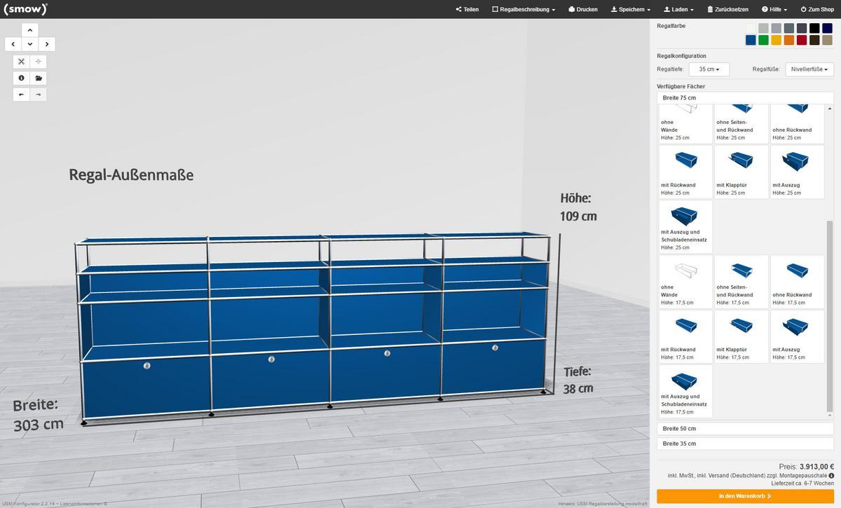 smow usm configurator designer furniture by. Black Bedroom Furniture Sets. Home Design Ideas