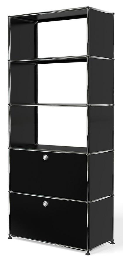usm haller storage unit with 2 doors without upper rear panels by fritz haller paul sch rer. Black Bedroom Furniture Sets. Home Design Ideas