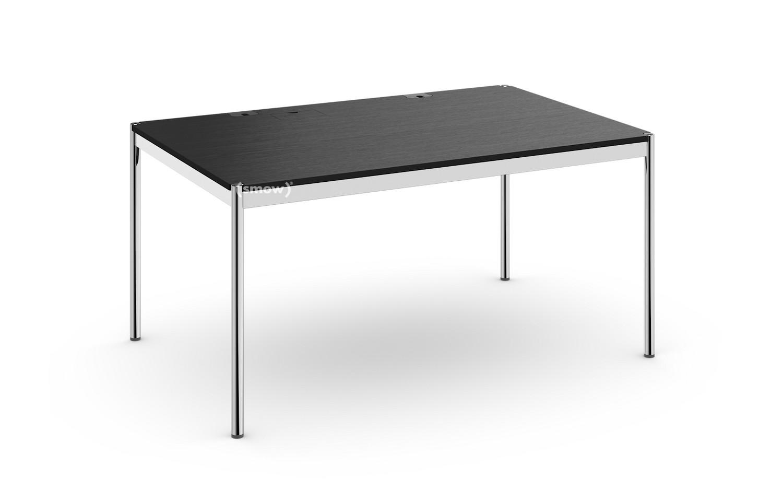 Usm Haller Table Plus 100 X 150 Cm 06 Black Lacquered Oak Hatch