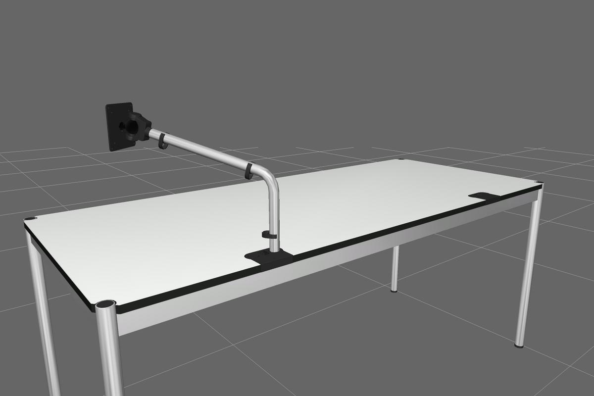 usm haller usm flat screen support arm for usm haller table usm haller table plus advanced by. Black Bedroom Furniture Sets. Home Design Ideas