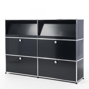 USM Haller Highboard L with Angled Shelves