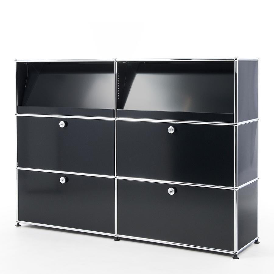 usm haller highboard l with angled shelves by fritz haller paul sch rer designer furniture. Black Bedroom Furniture Sets. Home Design Ideas