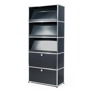 USM Haller Storage Unit with 3 Angled Shelves