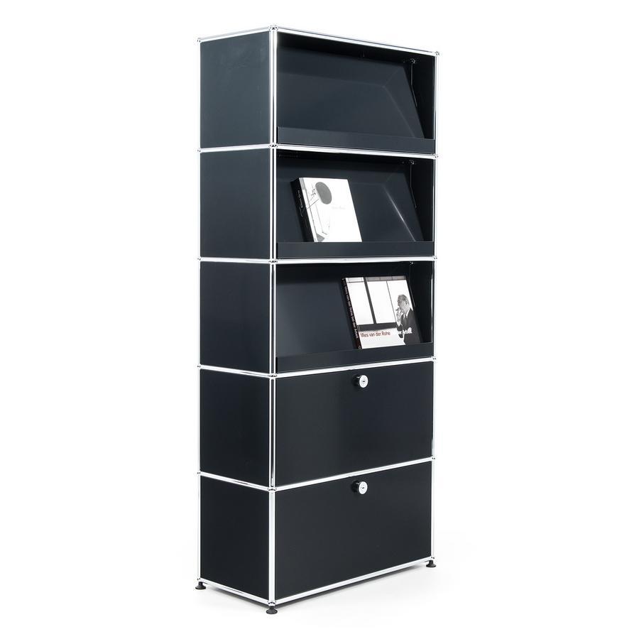 usm haller storage unit with 3 angled shelves by fritz. Black Bedroom Furniture Sets. Home Design Ideas