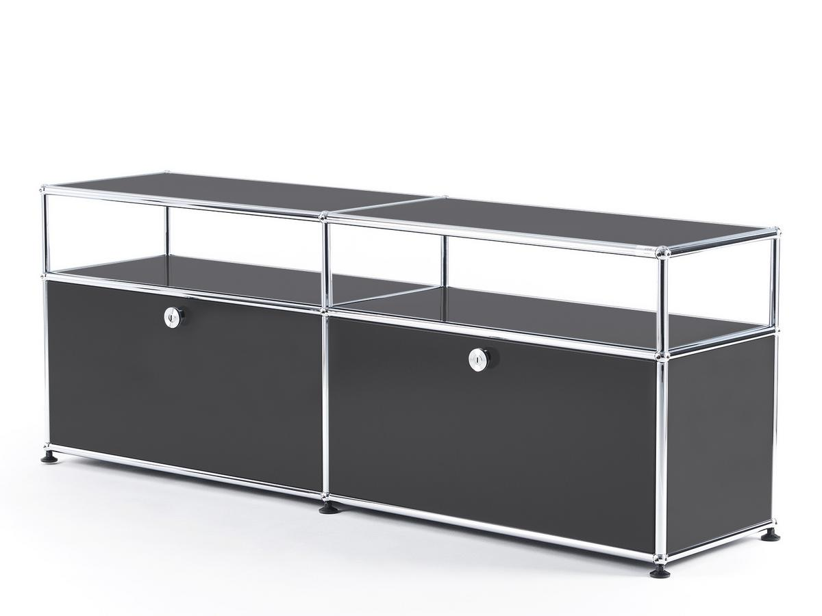 Usm Haller Tv Board With Extension Anthracite Ral 7016 By Fritz