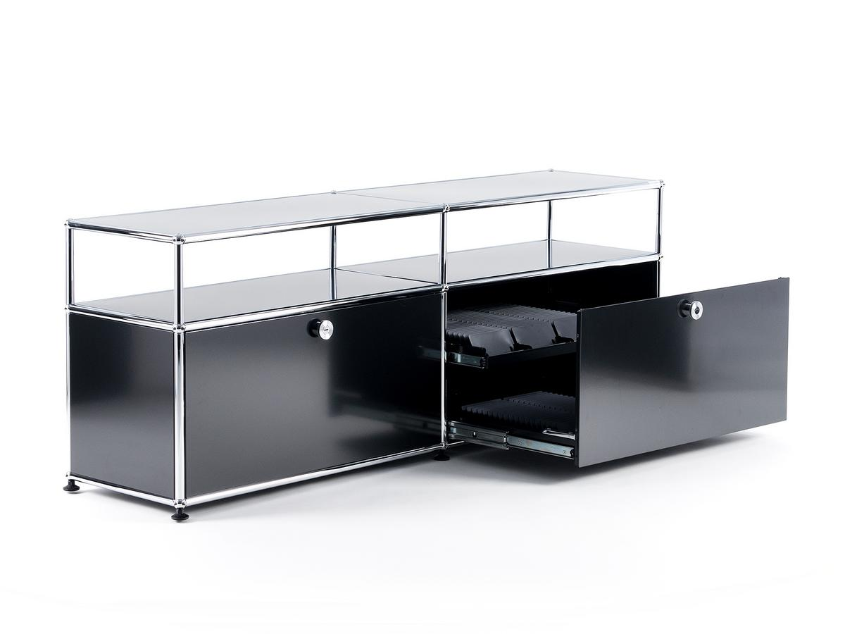 usm haller tv board with extension by fritz haller paul. Black Bedroom Furniture Sets. Home Design Ideas