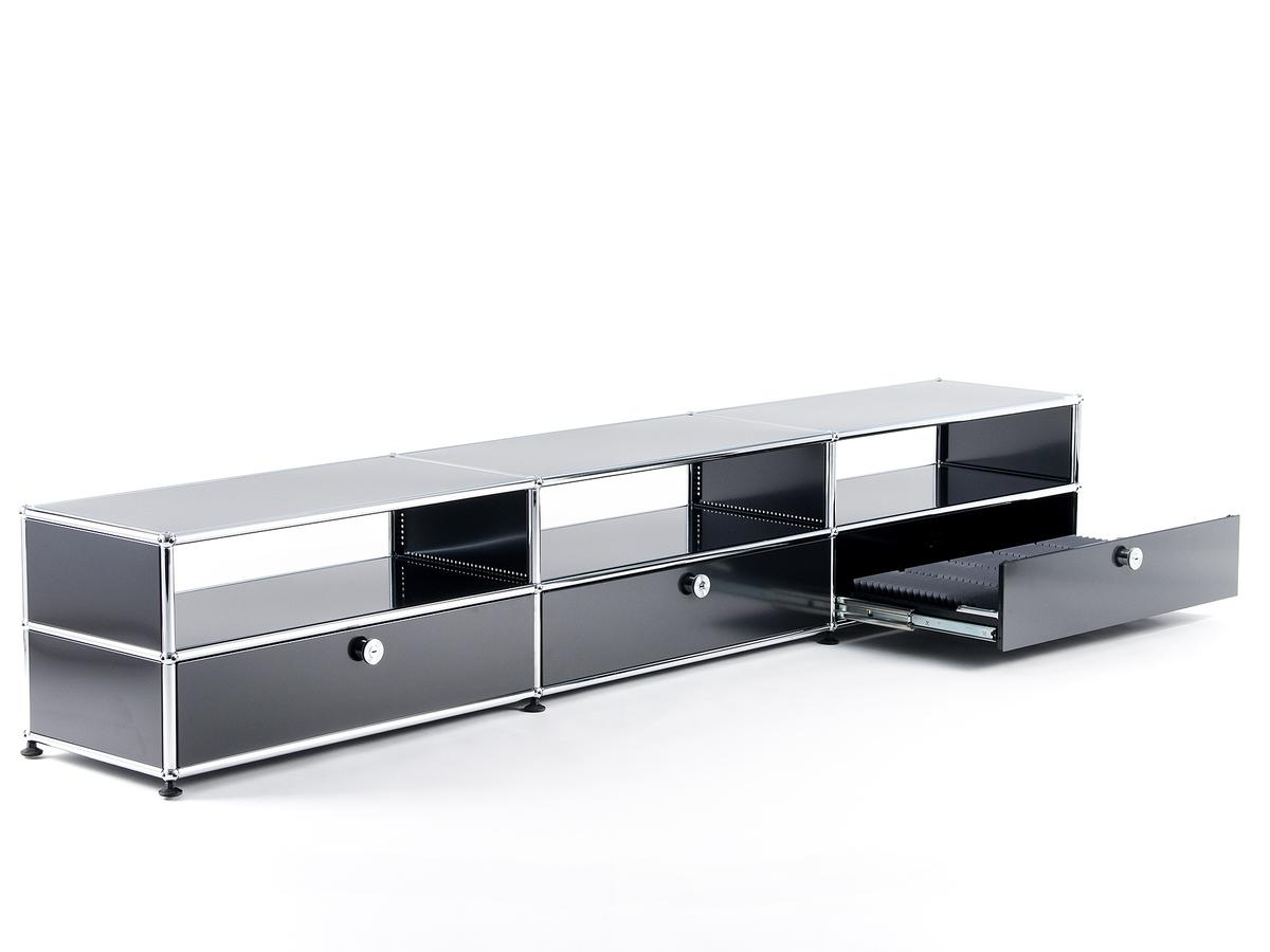 usm haller hifi lowboard by fritz haller paul sch rer. Black Bedroom Furniture Sets. Home Design Ideas