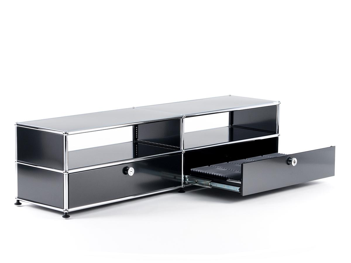 Usm haller tv board with extension doors by fritz haller for Furniture board