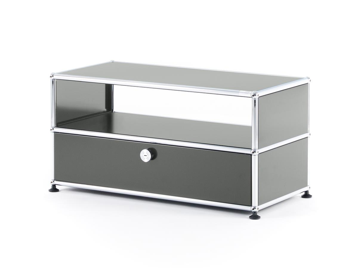 USM Haller TV-Bench, Mid grey RAL 7005 by Fritz Haller & Paul ...