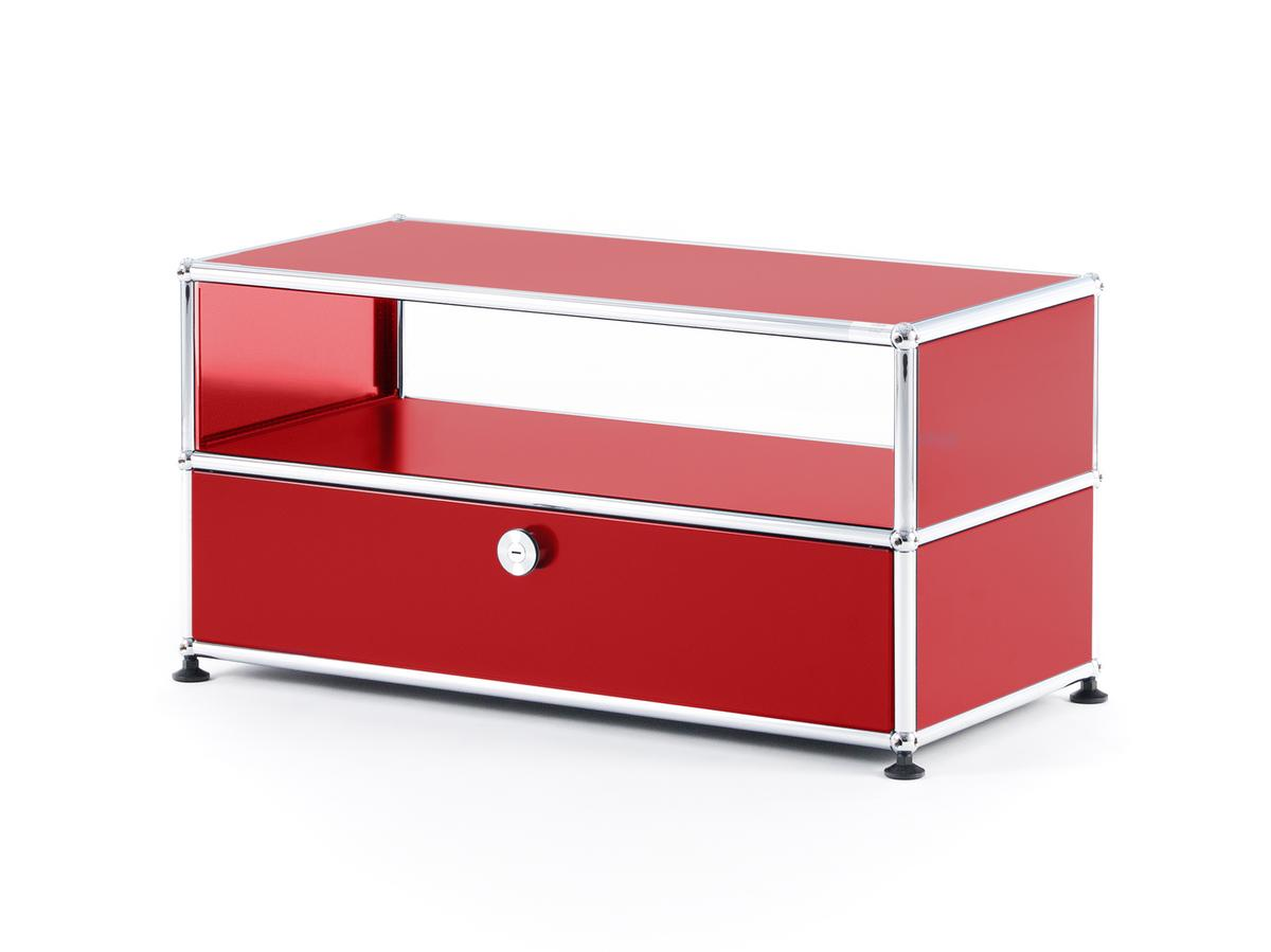 usm haller tv bench usm ruby red by fritz haller paul sch rer designer furniture by. Black Bedroom Furniture Sets. Home Design Ideas