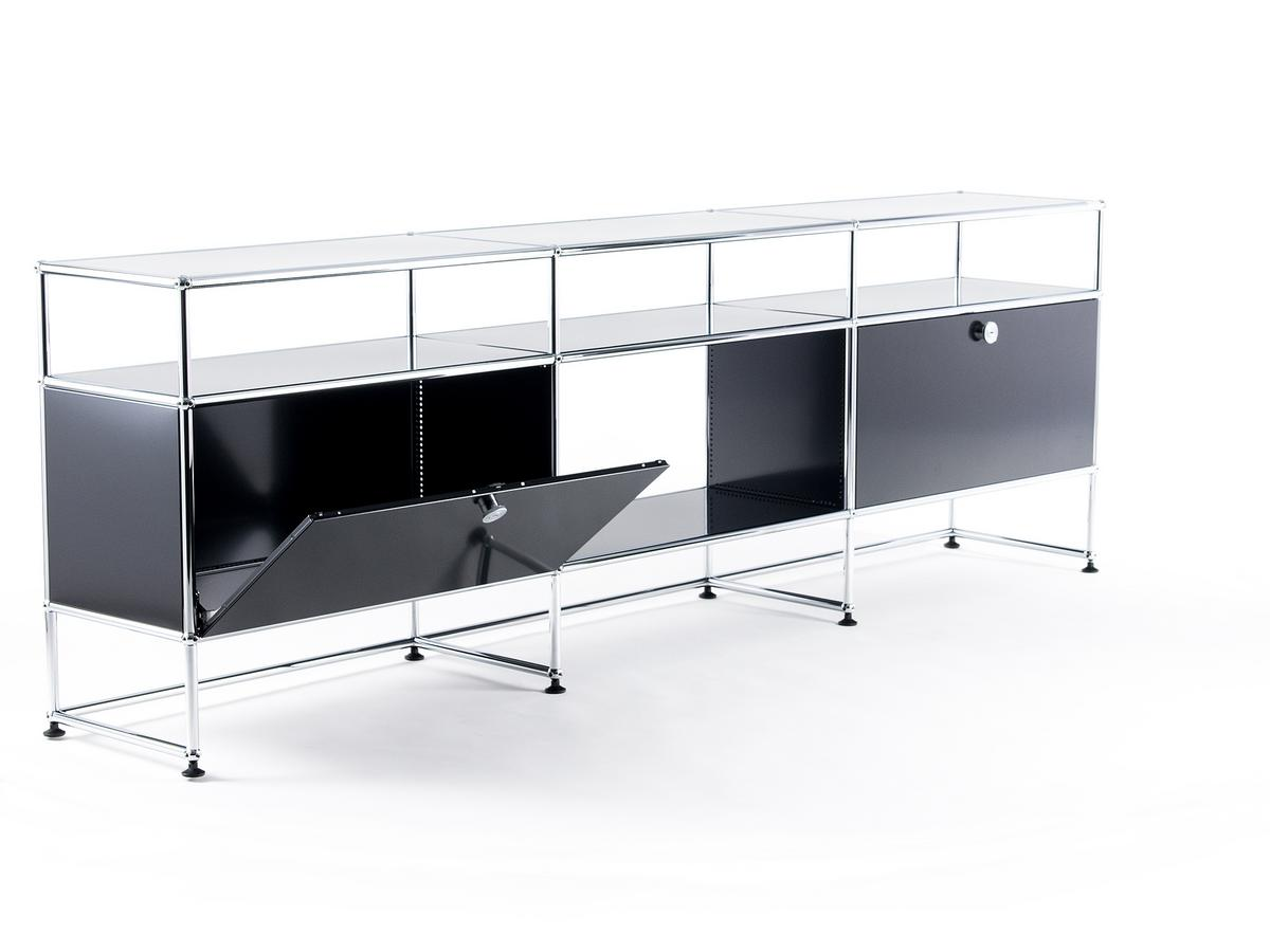 usm haller tv board xl by fritz haller paul sch rer. Black Bedroom Furniture Sets. Home Design Ideas