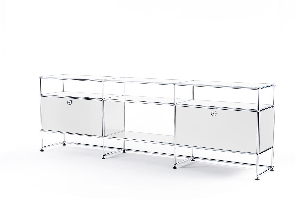 usm haller tv board xl pure white ral 9010 by fritz. Black Bedroom Furniture Sets. Home Design Ideas