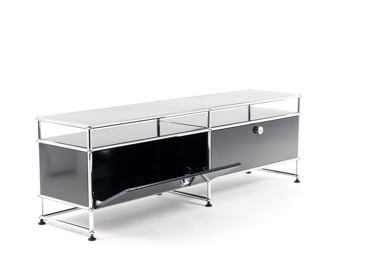 usm haller tv board l by fritz haller paul sch rer. Black Bedroom Furniture Sets. Home Design Ideas