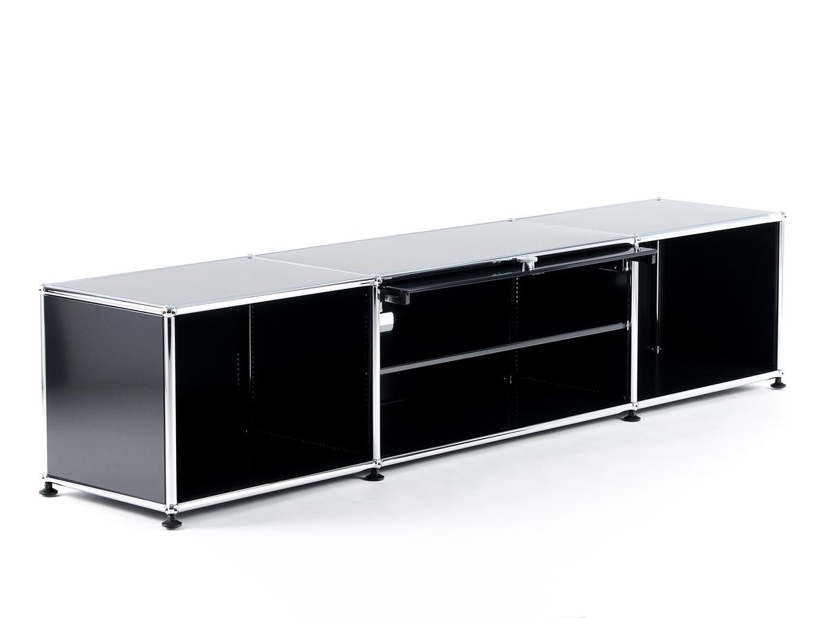 usm haller tv lowboard with flip up door by fritz haller. Black Bedroom Furniture Sets. Home Design Ideas
