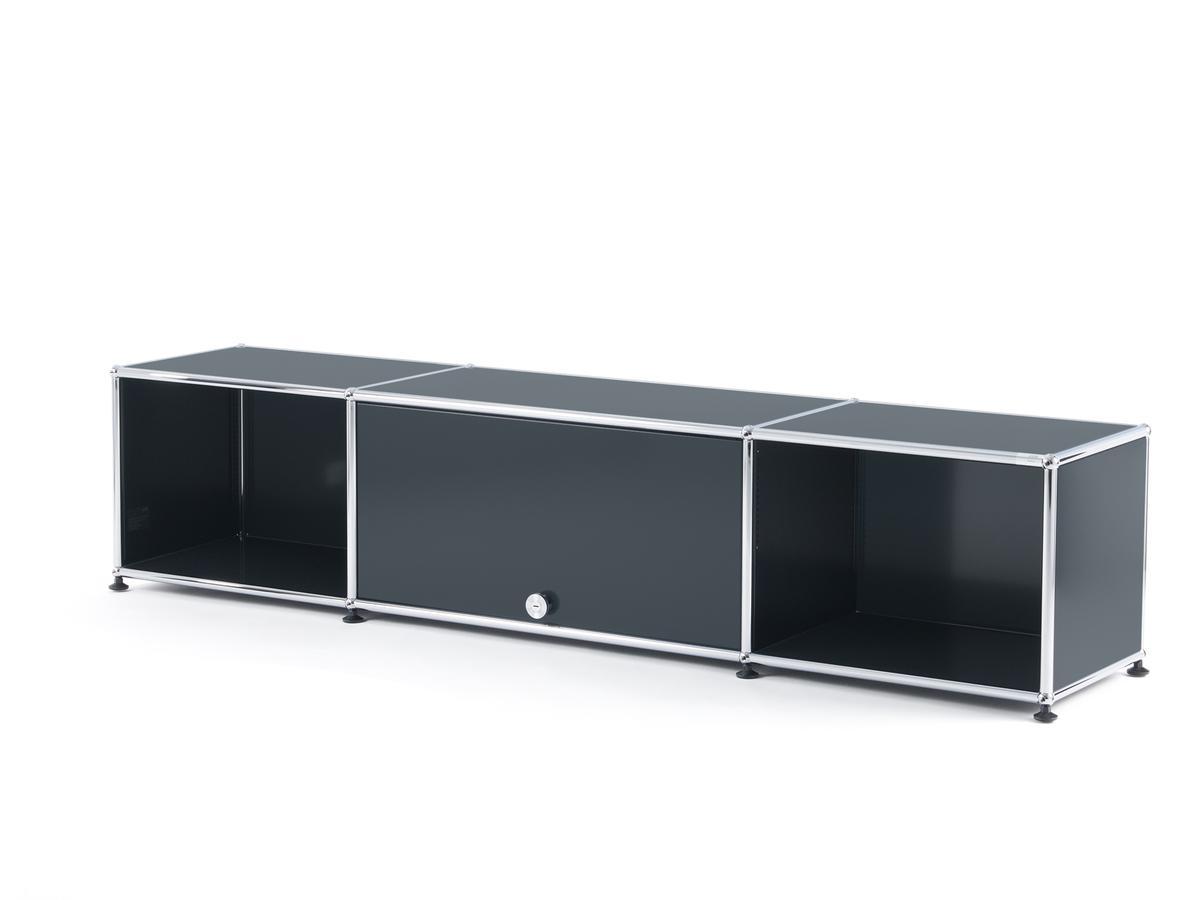 Tv Escamotable Dans Meuble usm haller usm haller tv-lowboard with flip-up door, anthracite ral 7016