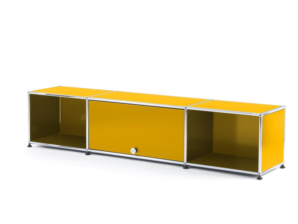 Tv Escamotable Dans Meuble usm haller usm haller tv-lowboard with flip-up door, golden yellow ral 1004