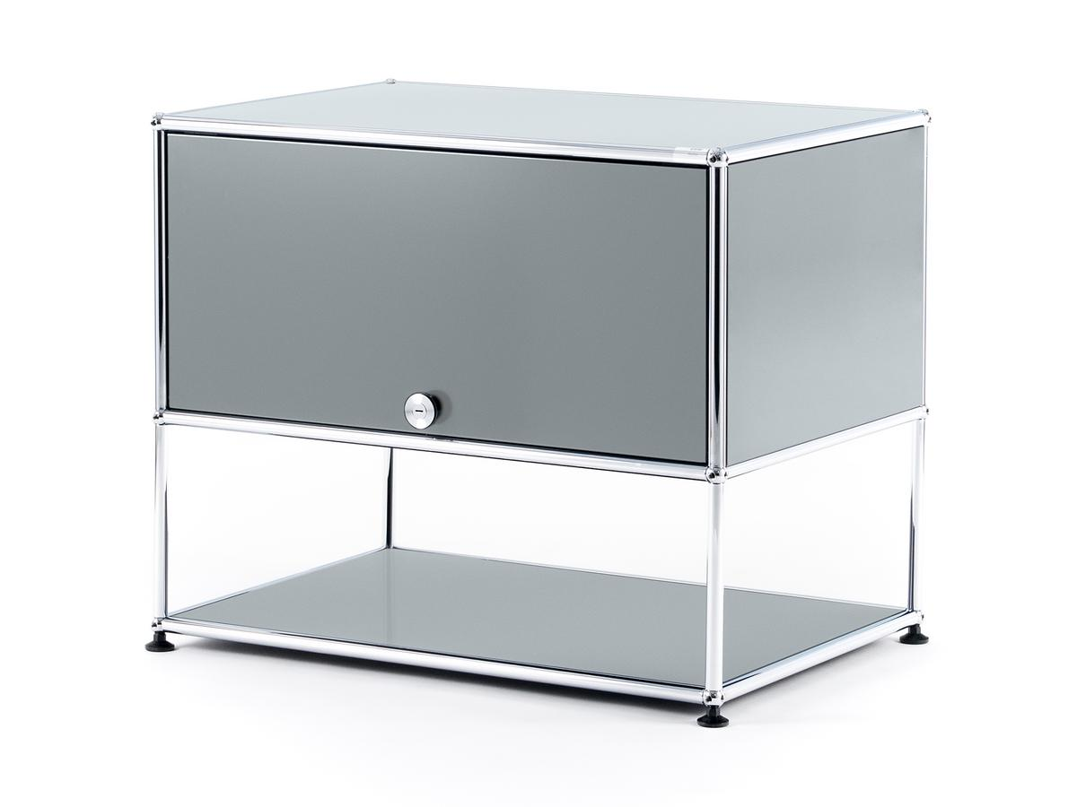 usm haller tv rack light grey ral 7035 by fritz haller. Black Bedroom Furniture Sets. Home Design Ideas