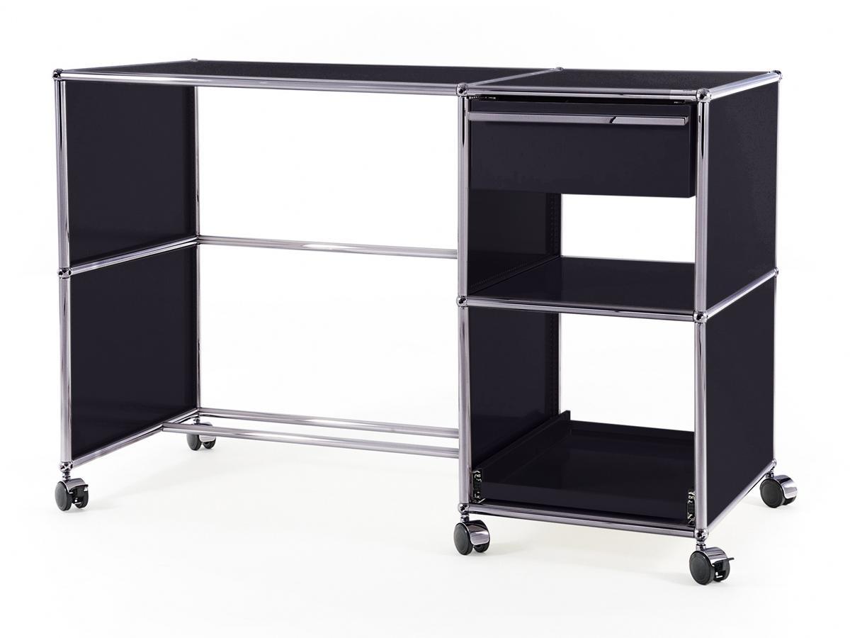 usm haller desktop on castors type 2 by fritz haller paul sch rer designer furniture by. Black Bedroom Furniture Sets. Home Design Ideas