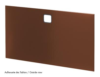 USM Haller Panel With Cable Cut-Out 35 x 35 cm|USM brown|Top centre