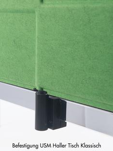 USM Privacy Panels Table Screen For USM Haller Table classic|200 cm|Green