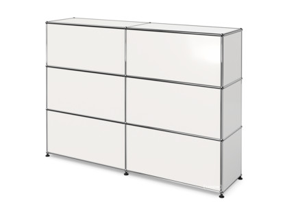 USM Haller Counter Type 1 Pure white RAL 9010|150 cm (2 elements)|35 cm
