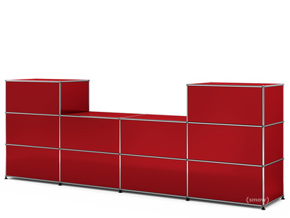 USM Haller Counter Type 3 USM ruby red|50 cm