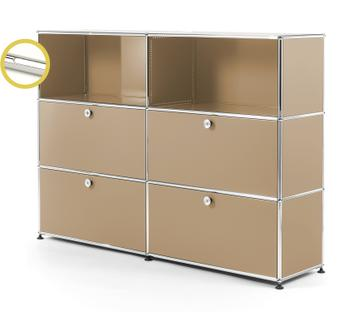 USM Haller E Highboard L with Compartment Lighting USM beige|Cool white