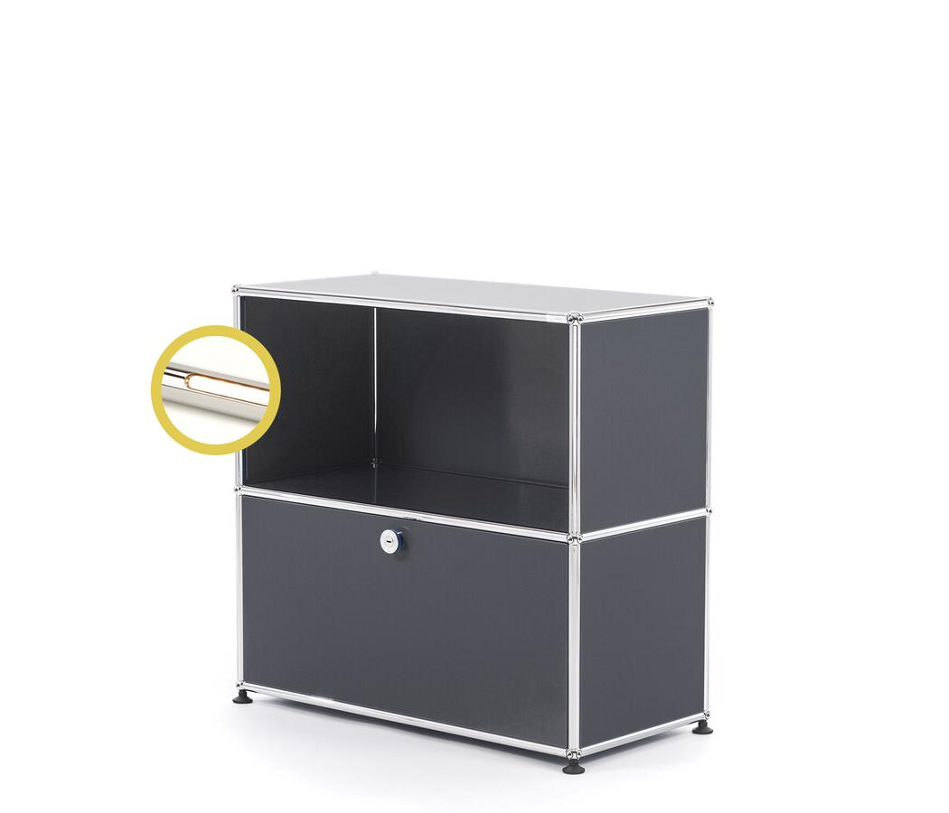 USM Haller E Sideboard M with Compartment Lighting, Anthracite RAL ...