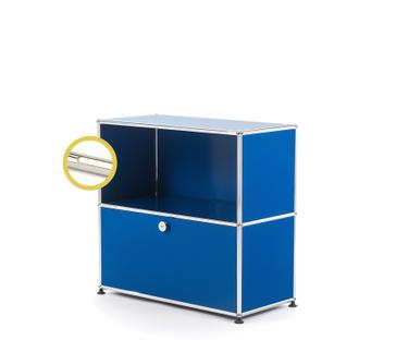 USM Haller E Sideboard M with Compartment Lighting Gentian blue RAL 5010|Warm white