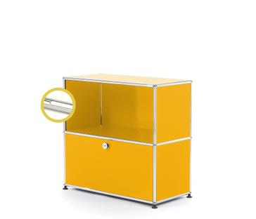 USM Haller E Sideboard M with Compartment Lighting Golden yellow RAL 1004|Cool white