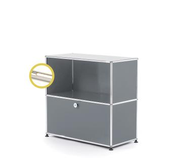 USM Haller E Sideboard M with Compartment Lighting Mid grey RAL 7005|Warm white
