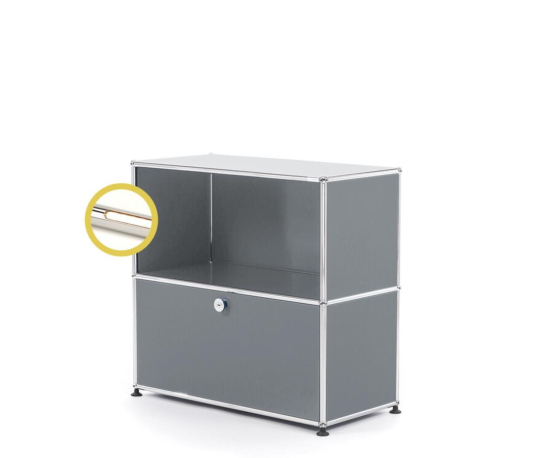 Usm Haller E Sideboard M With Compartment Lighting Mid Grey Ral 7005 Warm White