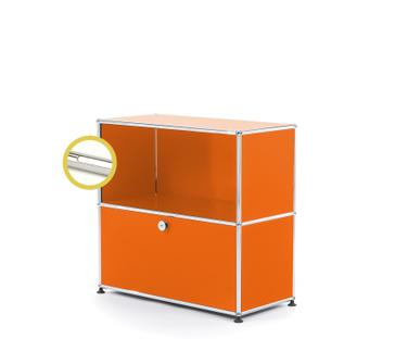 USM Haller E Sideboard M with Compartment Lighting Pure orange RAL 2004|Cool white
