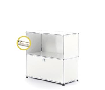 USM Haller E Sideboard M with Compartment Lighting Pure white RAL 9010|Warm white