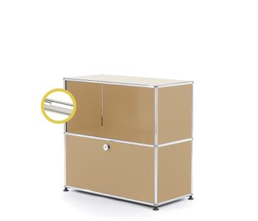 USM Haller E Sideboard M with Compartment Lighting USM beige|Cool white