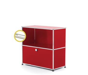 USM Haller E Sideboard M with Compartment Lighting USM ruby red|Cool white