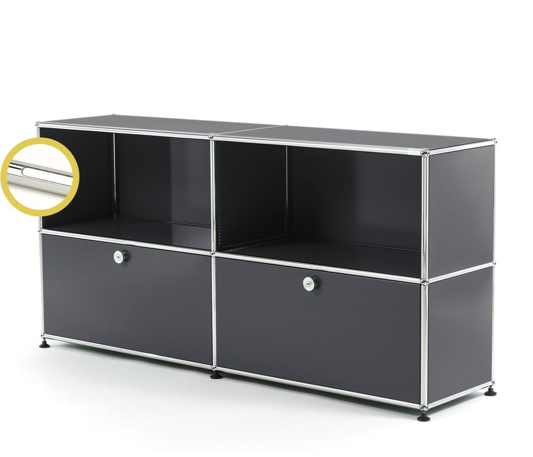 Usm Haller Usm Haller E Sideboard L With Compartment Lighting Anthracite Ral 7016 Cool White