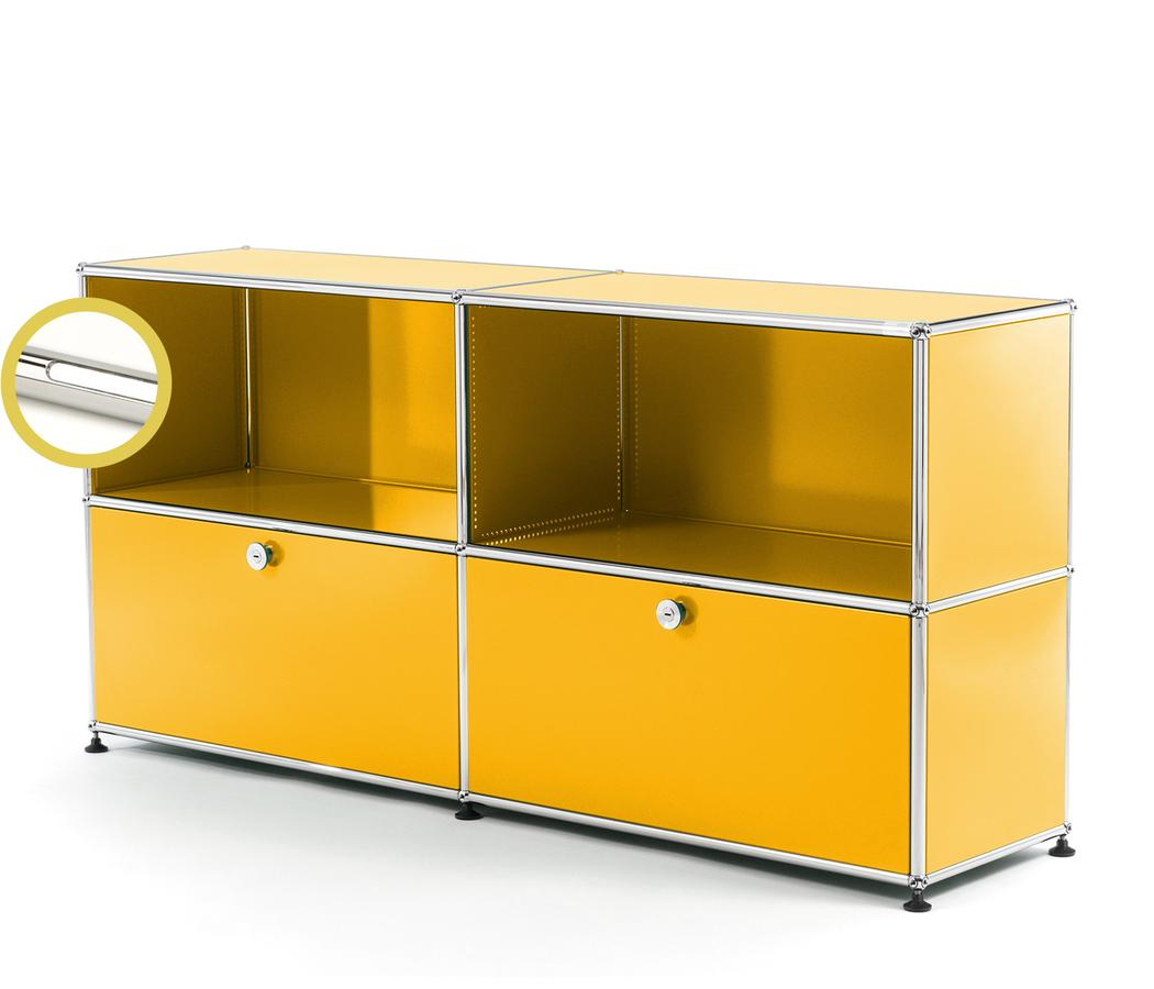 USM Haller E Sideboard L With Compartment Lighting Golden Yellow RAL  1004|Cool White