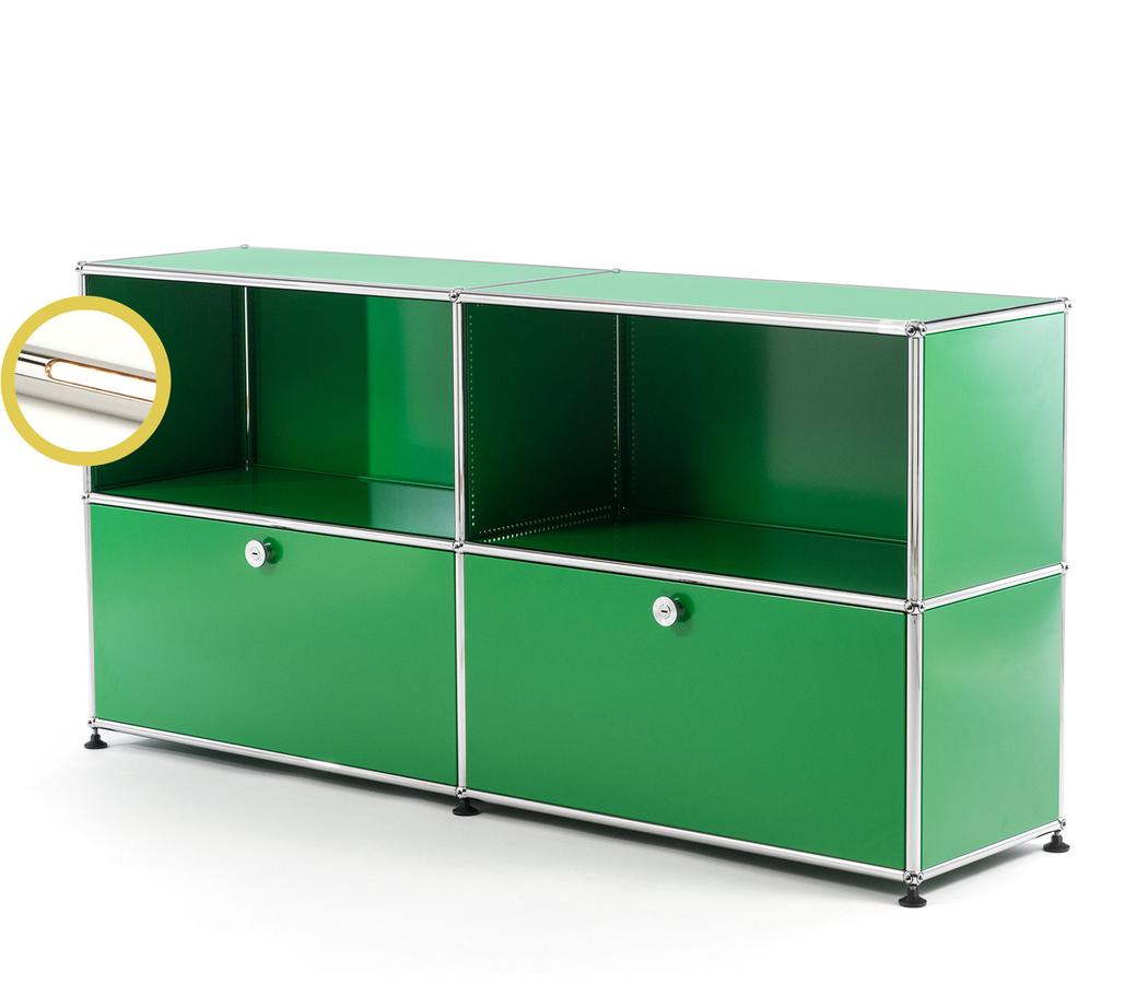 Usm Haller E Sideboard L With Compartment Lighting Green Warm White