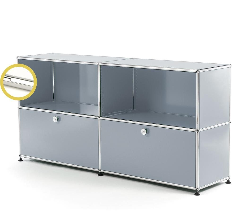 Usm Haller E Sideboard L With Compartment Lighting Usm Matte Silver