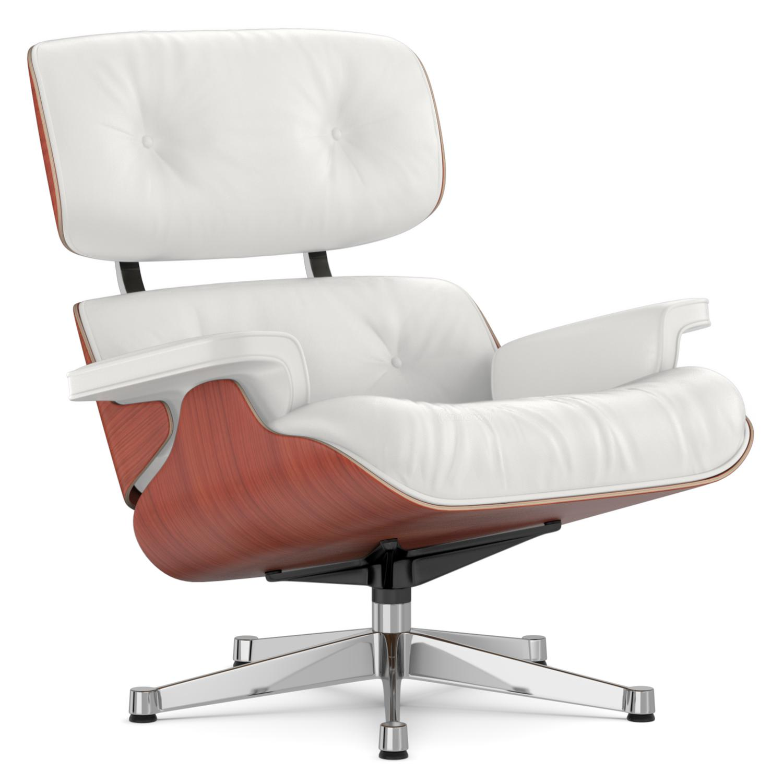 vitra lounge chair cherry snow 84 cm original height 1956