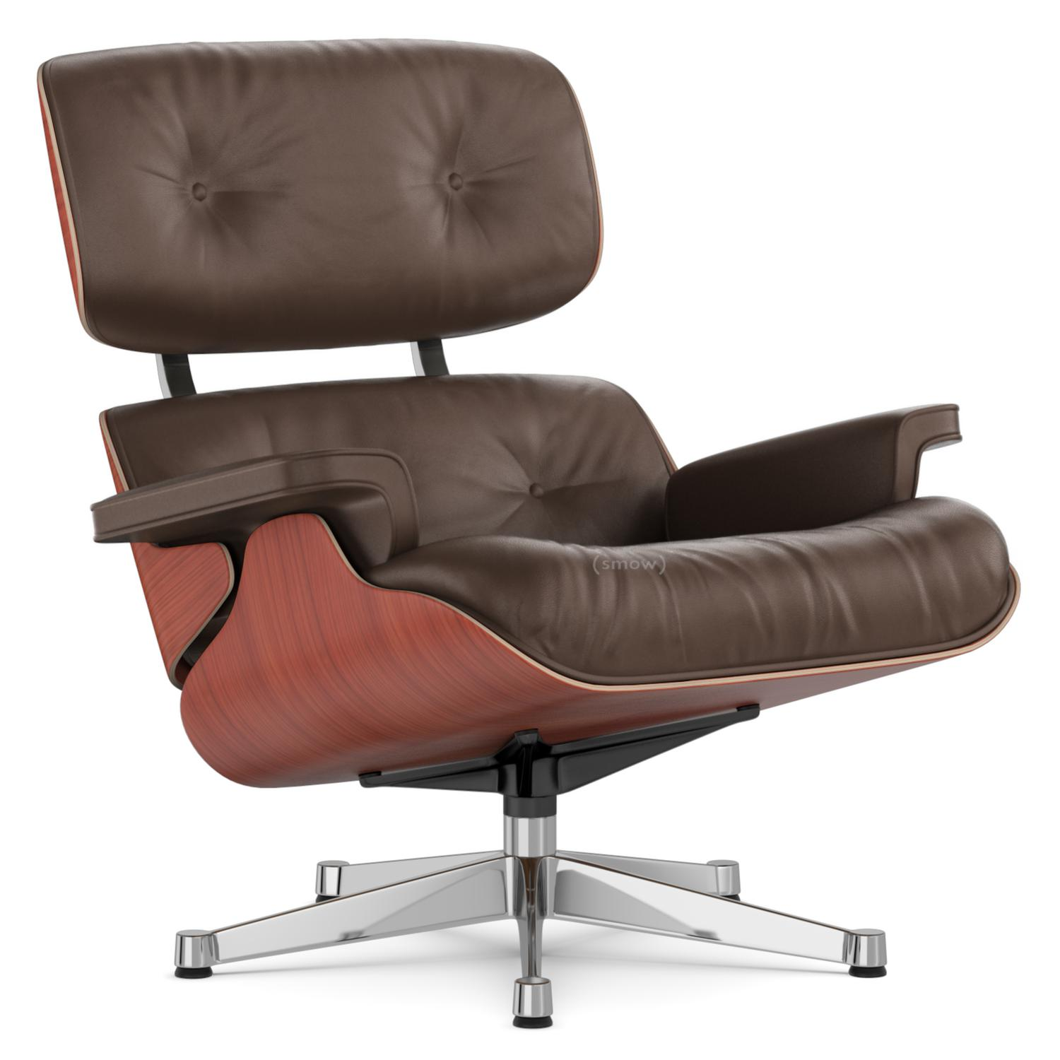 Vitra Lounge Chair Cherry Brown 89 cm Aluminium chrome plated