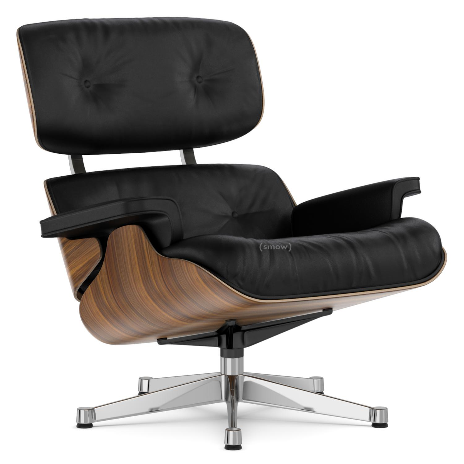 vitra lounge chair walnut with black pigmentation nero 84 cm original height 1956. Black Bedroom Furniture Sets. Home Design Ideas