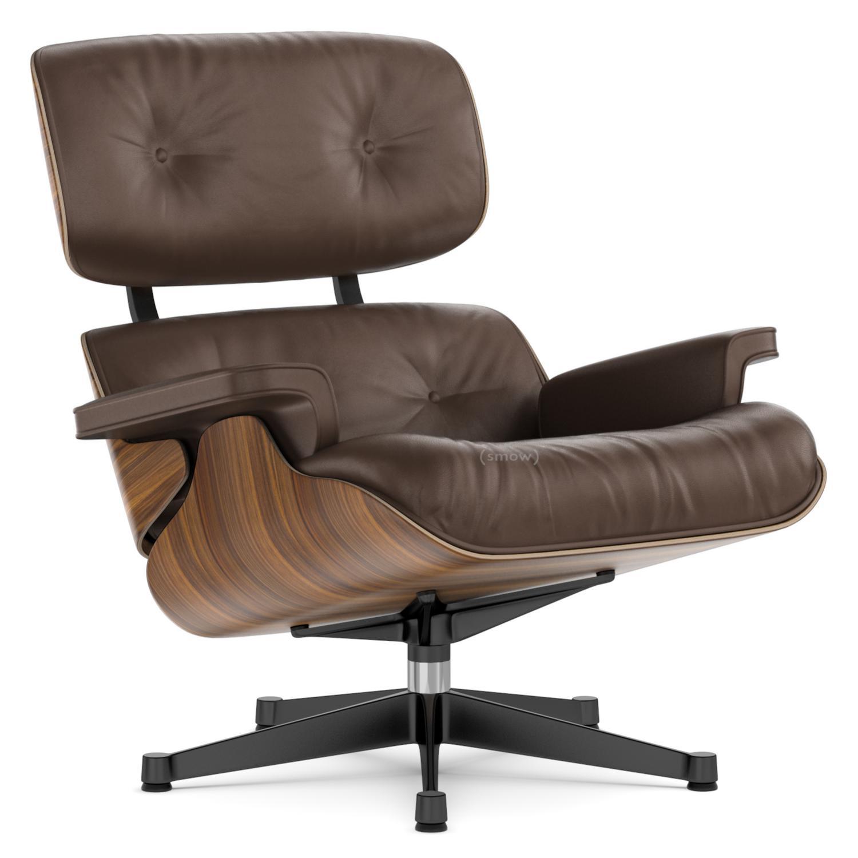 Surprising Vitra Lounge Chair Walnut With Black Pigmentation Brown 89 Cm Aluminium Polished Sides Black Bralicious Painted Fabric Chair Ideas Braliciousco