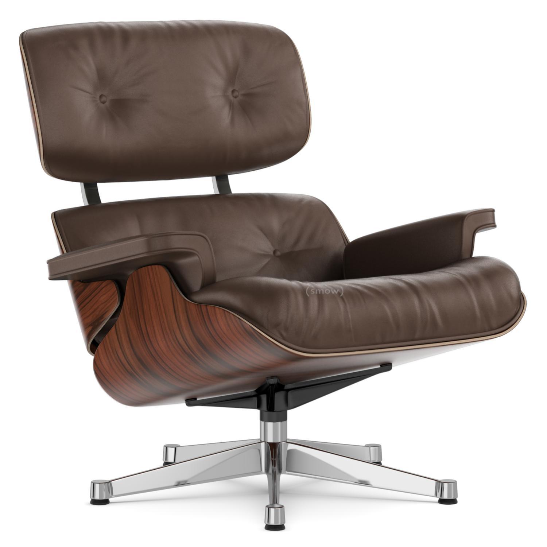 Lounge Chair Santos Palisander|Brown|84 Cm   Original Height 1956|Aluminium  Chrome